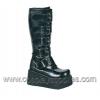 TRASHVILLE-518 Black Faux Leather
